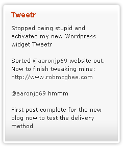 Tweetr: Displaying 4 tweets